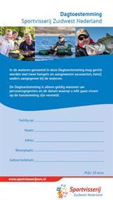 Dagtoestemming Sportvisserij Zuidwest Nederland